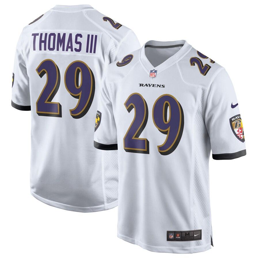 Earl Thomas Baltimore Ravens Nike Game Jersey – White – Ctjersey.store