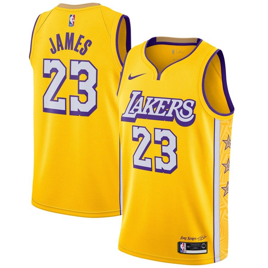 LeBron James Los Angeles Lakers Nike 2019/20 Finished Swingman ...