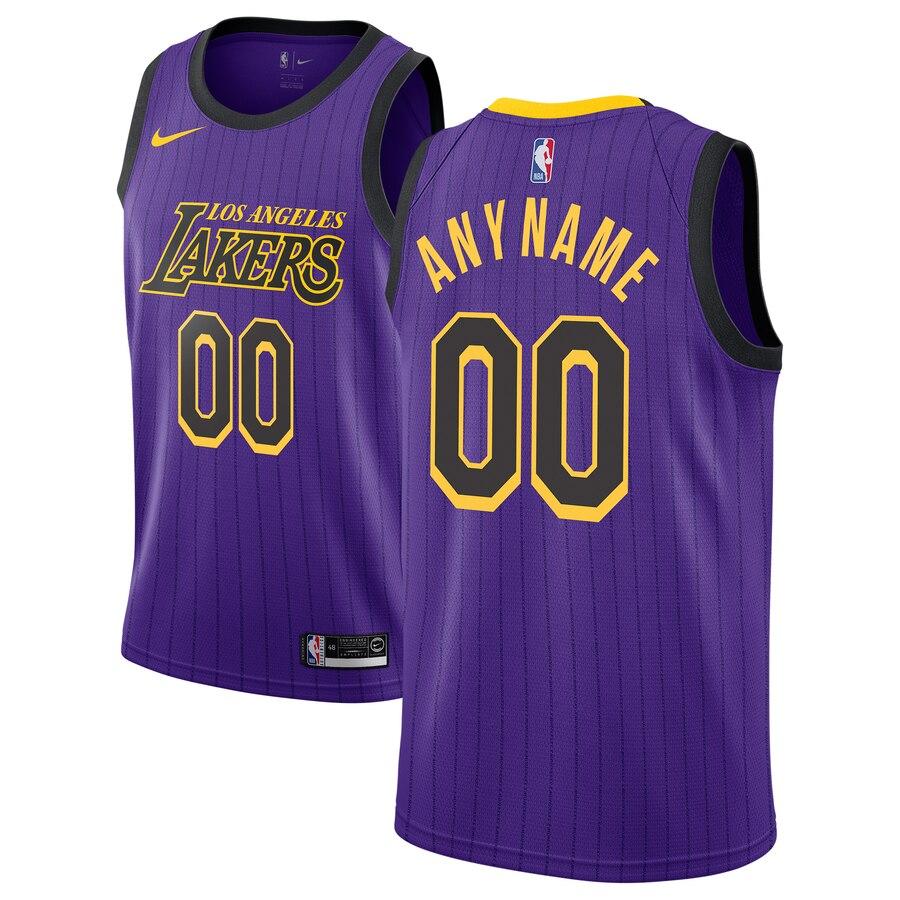 Los Angeles Lakers Nike 2018/19 Swingman Custom Jersey – City ...