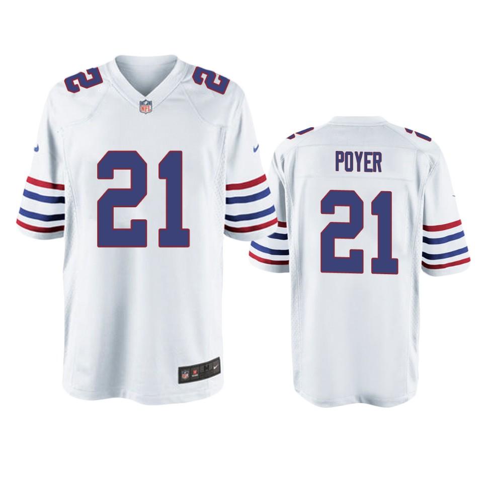 Buffalo Bills Jordan Poyer White Throwback Game Jersey – Men ...