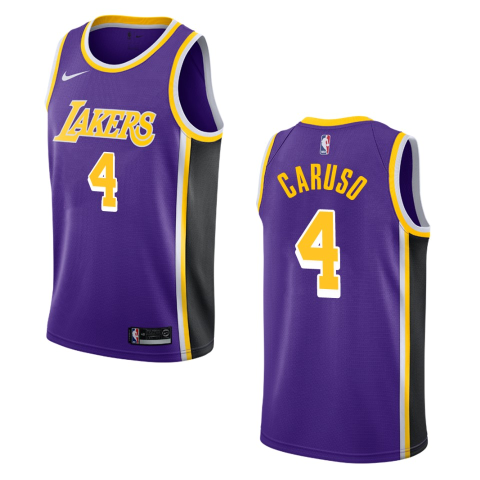 Men's Los Angeles Lakers #4 Alex Caruso Statement Swingman Jersey ...