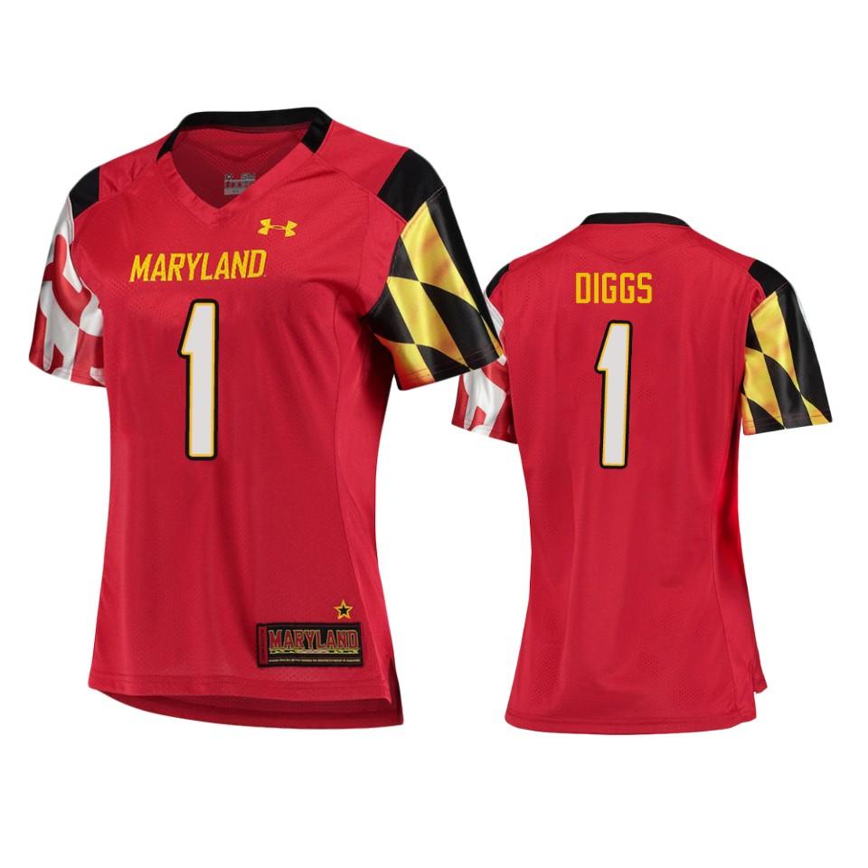 Stefon Diggs Maryland Terrapins College Football Red Women S Jersey Ctjersey Store